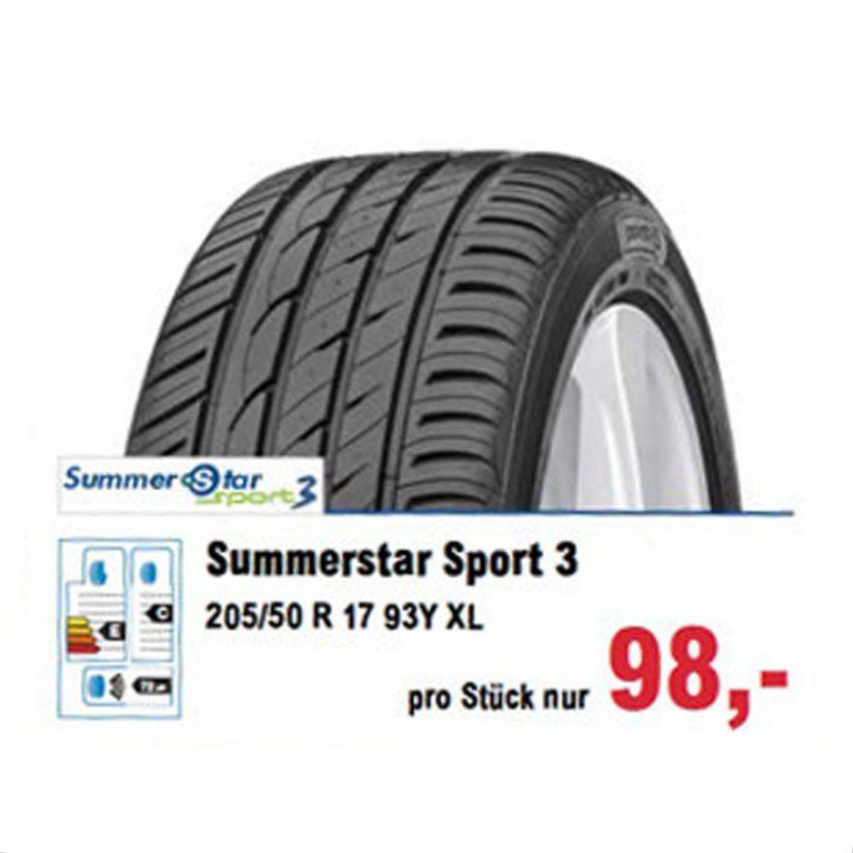 Unser Sommer-Angebot Summerstar Sport 3