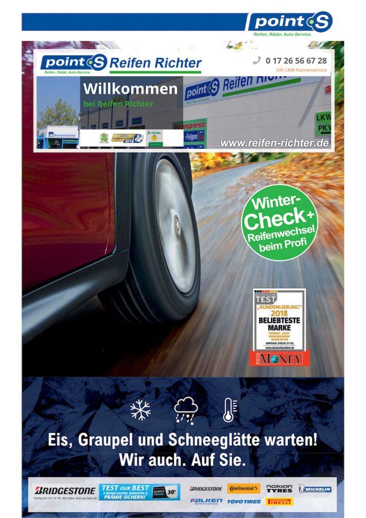 Reifen Richter Wernigerode Angebote Herbst/ Winter 2018