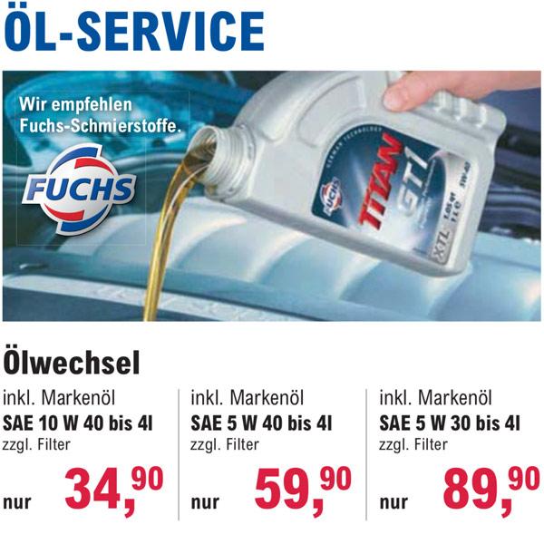 Öl Service bei Reifen Richter in Wernigerode, Bad Harzburg und Osterwieck