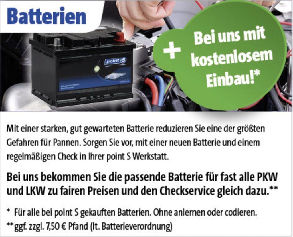Batterie bei Reifen Richter